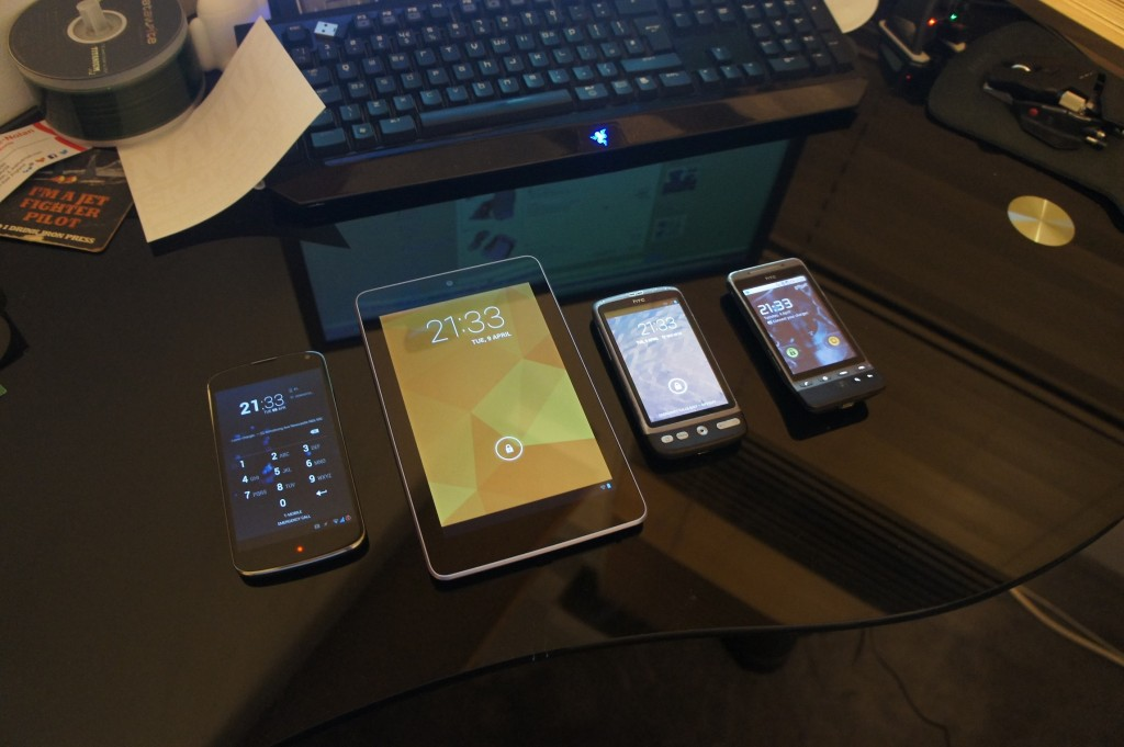 all my android devices